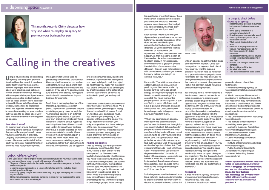 Calling in the creatives August 2012